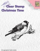 Nellie Snellen - Christmas Time Clear Stamp - Bird - CT011